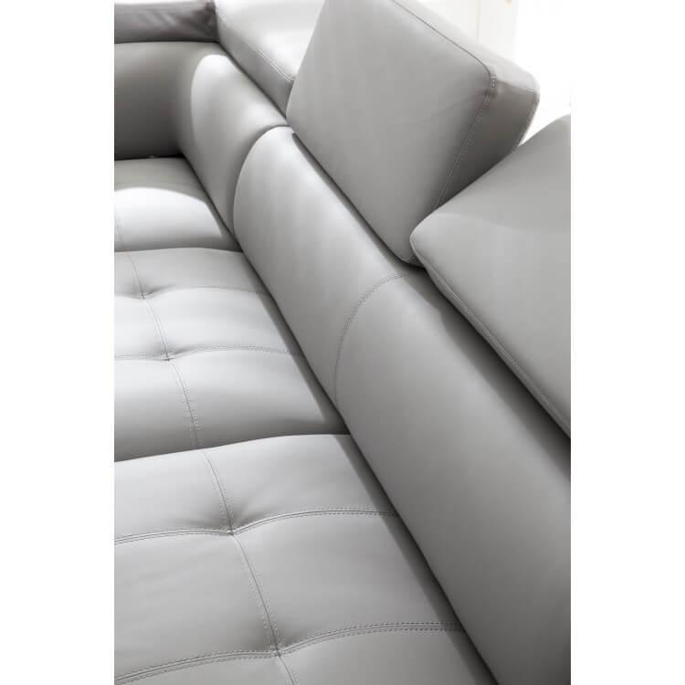 Canapé d'angle design en PU gris clair Marocco