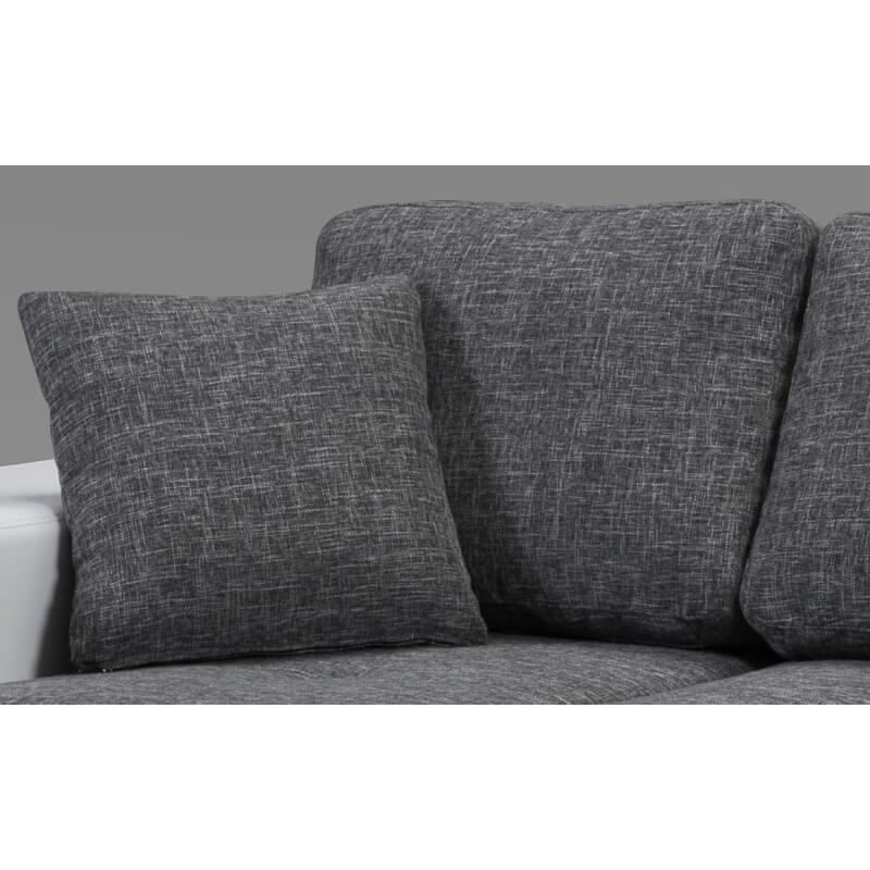 canap design 3 places en tissu gris perrine matelpro. Black Bedroom Furniture Sets. Home Design Ideas