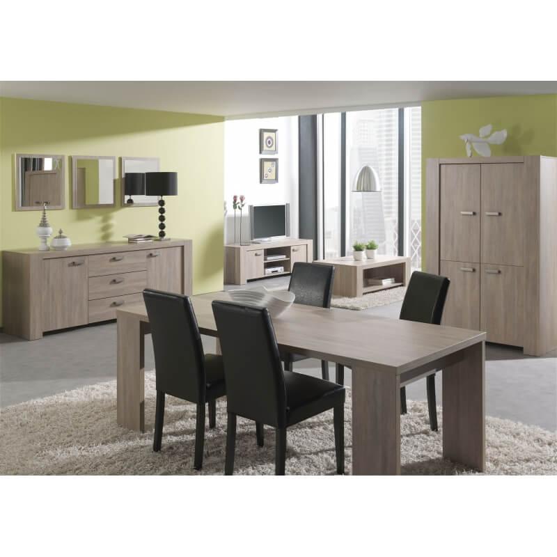 salle manger contemporaine ch ne rustique lilo iii. Black Bedroom Furniture Sets. Home Design Ideas