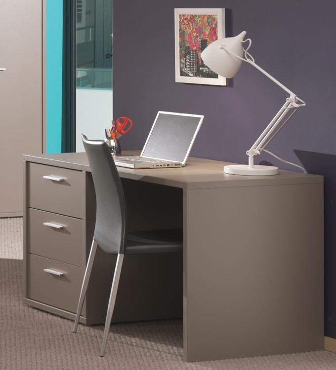 Bureau contemporain coloris basalte gris Donna