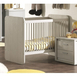 Lit bébé évolutif contemporain coloris gris Noe