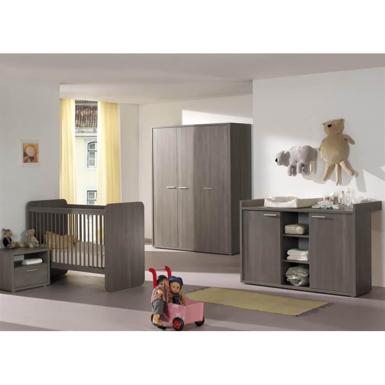 Chambre bébé contemporaine bouleau gris Luciane