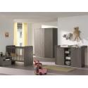 Chevet enfant contemporain bouleau gris Luciane