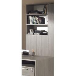 Armoire de bureau contemporaine coloris bouleau gris Alrun II