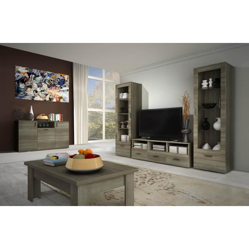 meuble tv 160 cm contemporain ch ne truffier anastasia. Black Bedroom Furniture Sets. Home Design Ideas
