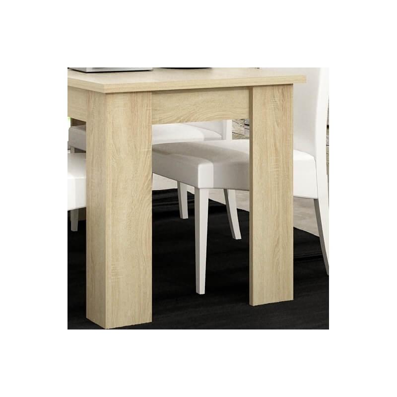Table de salle manger contemporaine ch ne clair mirage matelpro - Table salle a manger chene clair ...