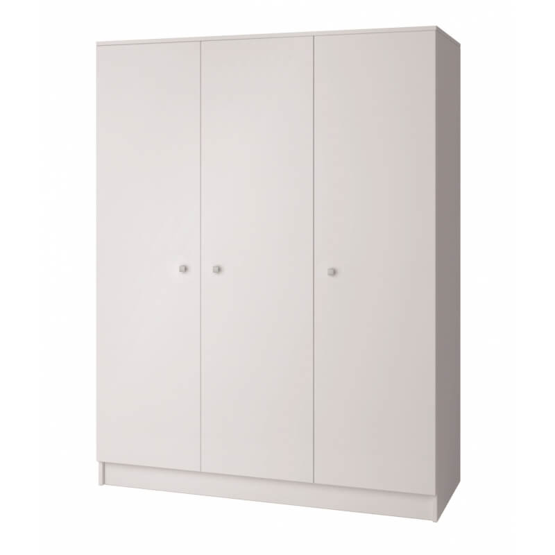 Armoire contemporaine 3 portes blanche mika - Armoire 3 portes blanche ...