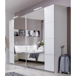 Armoire design portes coulissantes coloris blanc alpin Mavrick