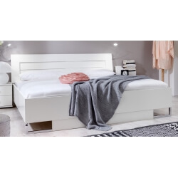 Lit adulte design coloris blanc alpin Mavrick