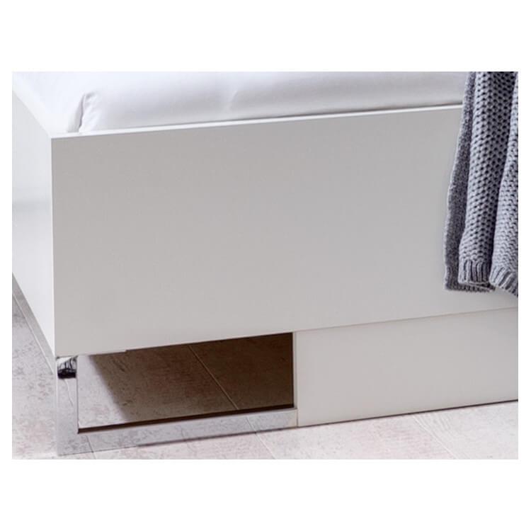 Chambre adulte compl te design coloris blanc alpin mavrick matelpro - Mobilier chambre adulte complete design ...