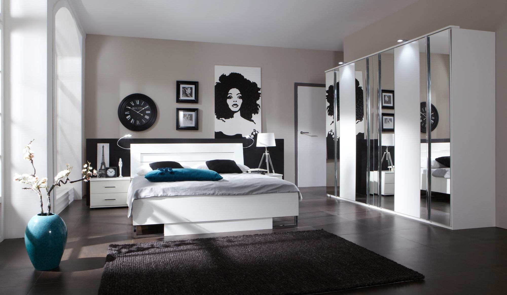 Chambre adulte complète design coloris blanc alpin Mavrick III