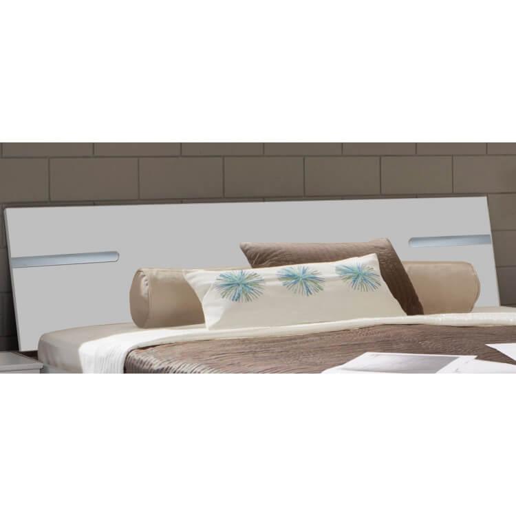 chambre adulte compl te design blanc alpin chrome brillant bella matelpro. Black Bedroom Furniture Sets. Home Design Ideas