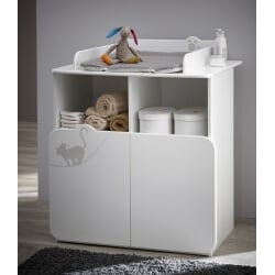 Commode à langer contemporaine blanche Mistie