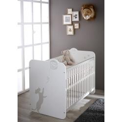 Lit bébé à barreaux contemporain blanc Mistie