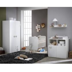 Chambre bébé contemporaine blanche Mistie