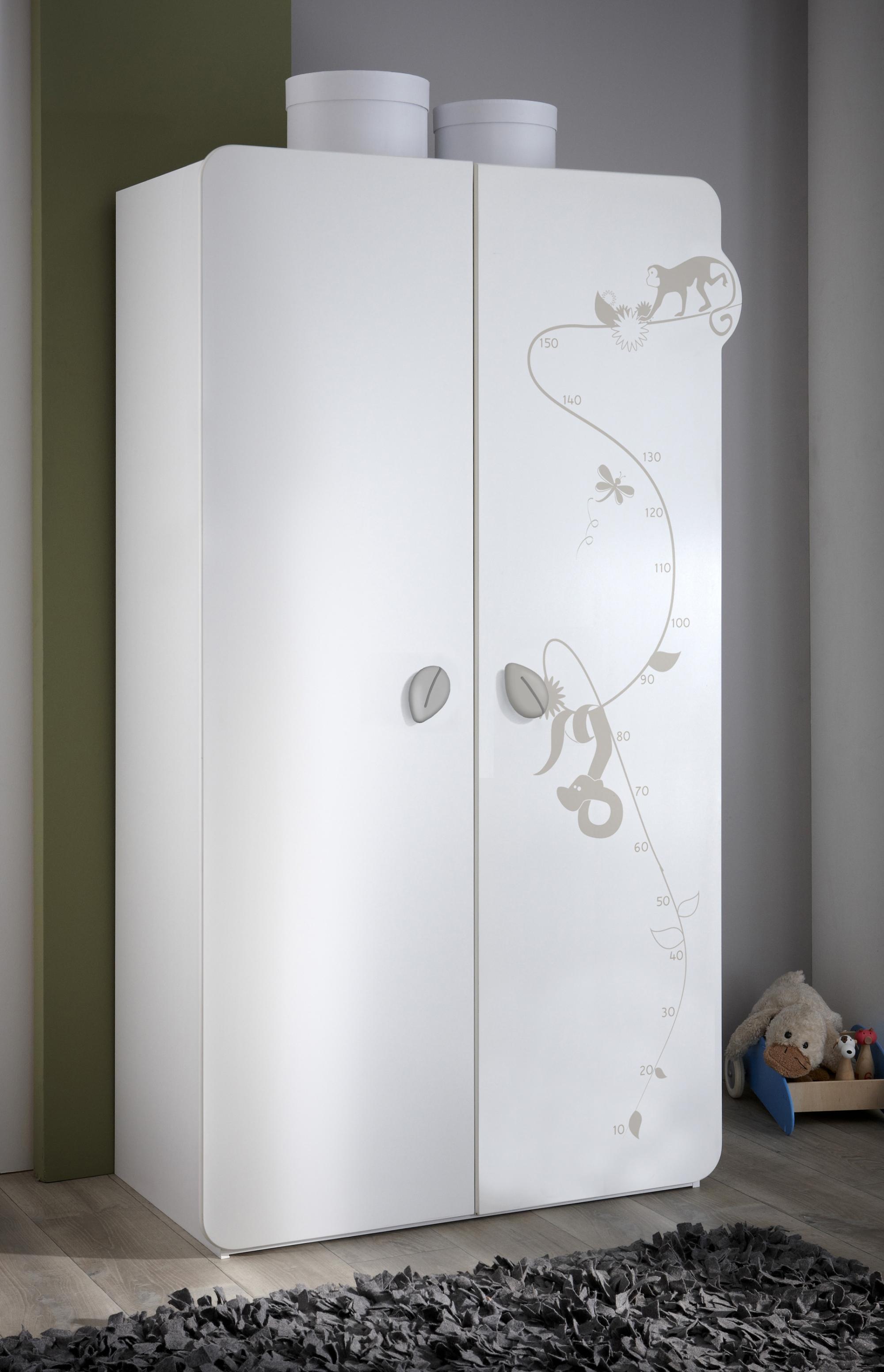 Armoire bébé contemporaine 2 portes blanche Woody