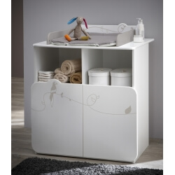 Commode à langer contemporaine blanche Woody