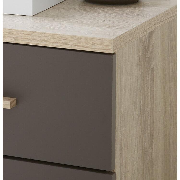 chevet contemporain 2 tiroirs ch ne bross lave solena matelpro. Black Bedroom Furniture Sets. Home Design Ideas