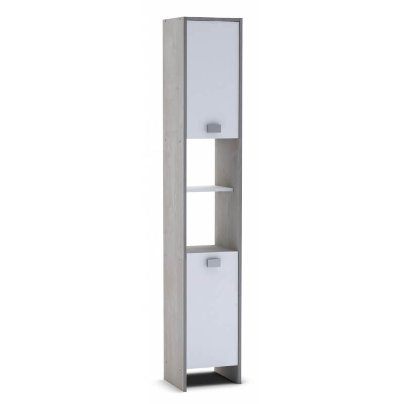 colonne de salle de bain contemporaine blanche ch ne champagne honolulu matelpro. Black Bedroom Furniture Sets. Home Design Ideas