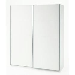 Armoire design 2 portes coulissantes blanc perle Devona