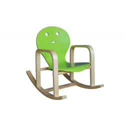 Fauteuil rocking chair enfant en bois coloris vert Benny