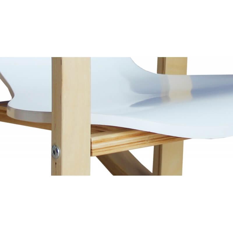 fauteuil rocking chair enfant en bois coloris blanc benny. Black Bedroom Furniture Sets. Home Design Ideas