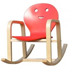Fauteuil rocking chair enfant en bois coloris rouge Benny