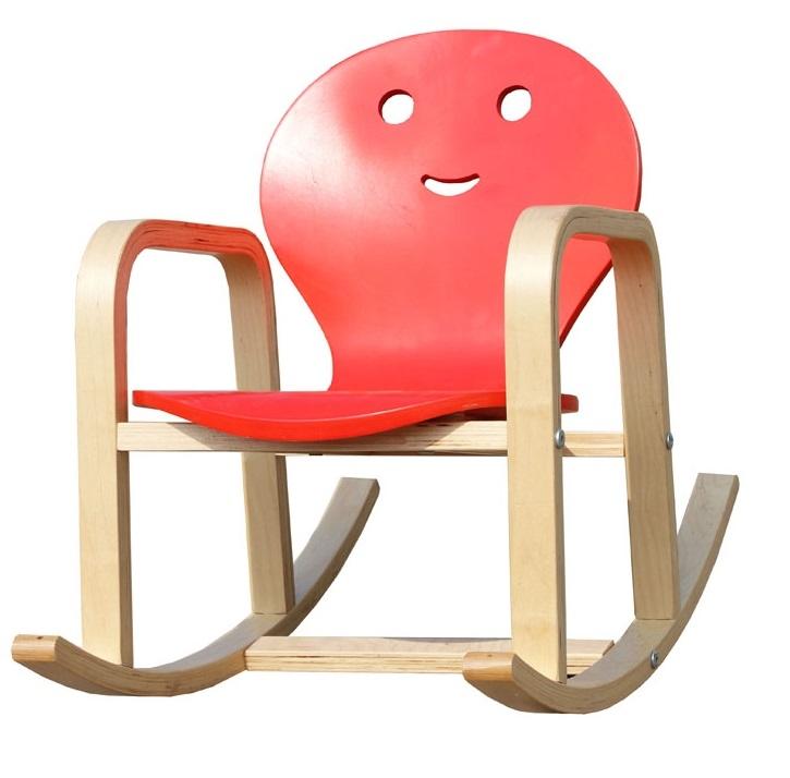 fauteuil rocking chair enfant en bois coloris rouge benny. Black Bedroom Furniture Sets. Home Design Ideas