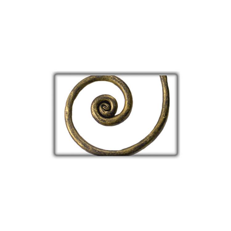 Lit fer forgé coloris bronze doré EVITA