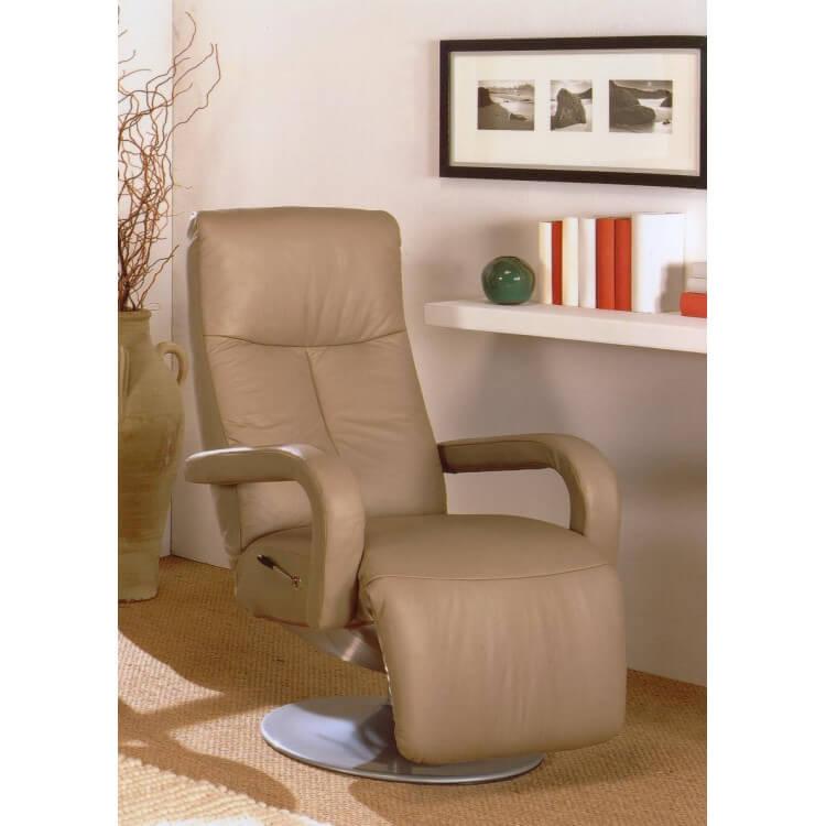 Fauteuil de relaxation manuel cuir KARPA