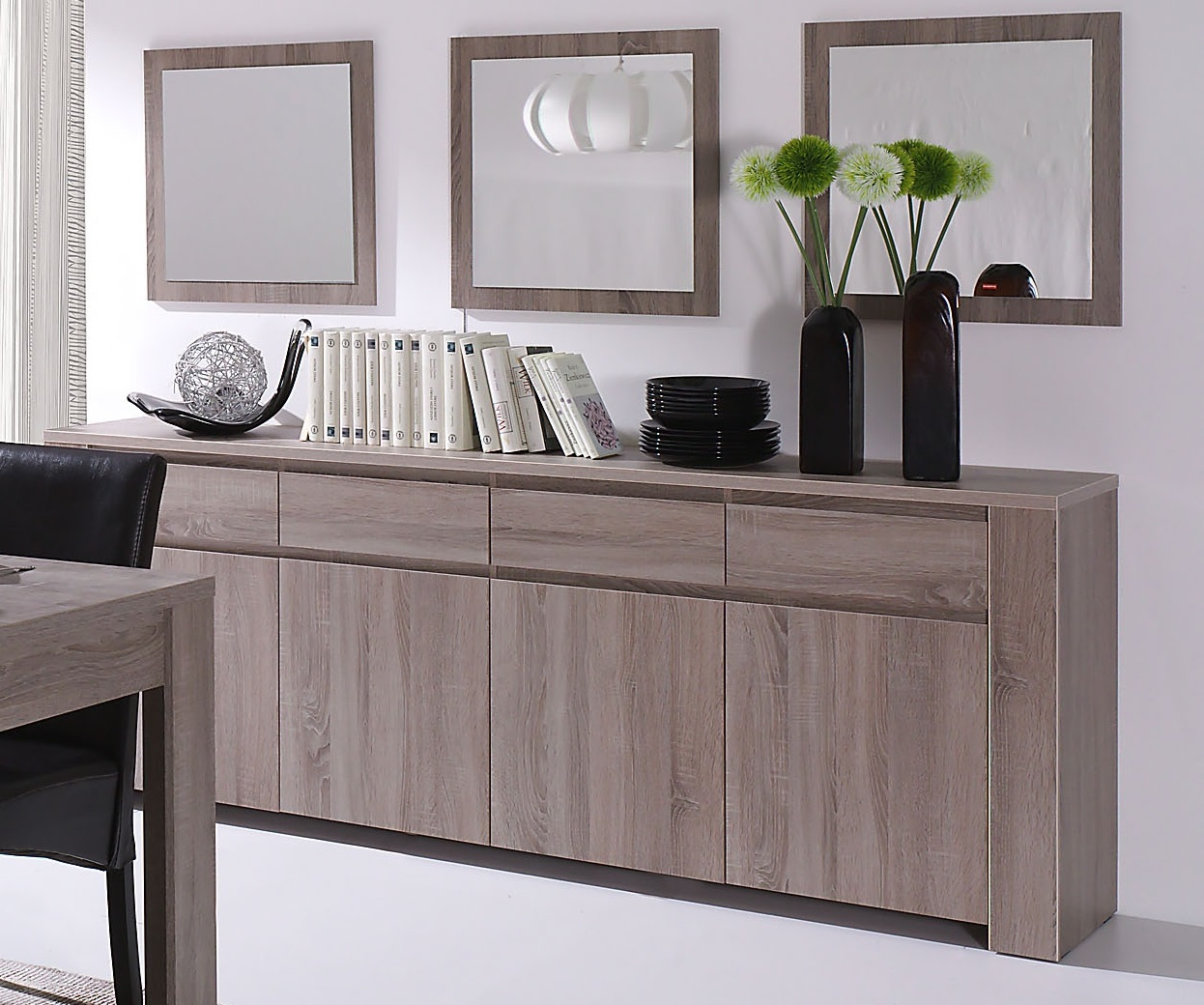 miroir carr contemporain ch ne truffe indra. Black Bedroom Furniture Sets. Home Design Ideas
