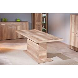 Table de salle à manger rectangulaire contemporaine coloris chêne Sylvano