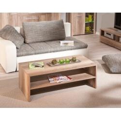 Table basse rectangulaire contemporaine coloris chêne Sylvano
