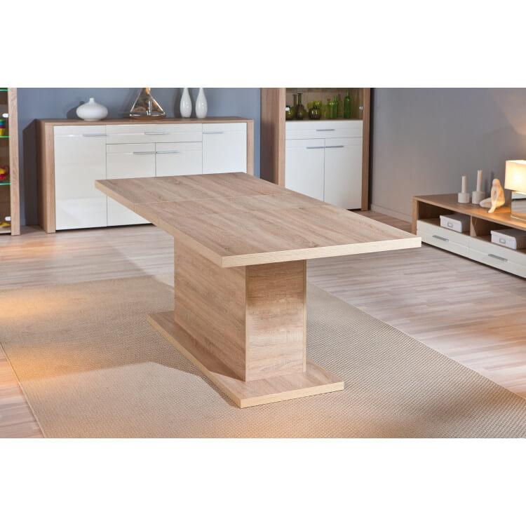 Table de salle à manger rectangulaire contemporaine chêne sonoma Sylvano II