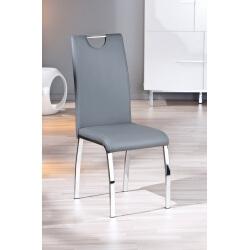 Chaise design de salle à manger coloris gris (lot de 2) Ushuaya