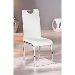 Chaise design de salle à manger coloris blanc (lot de 2) Ushuaya