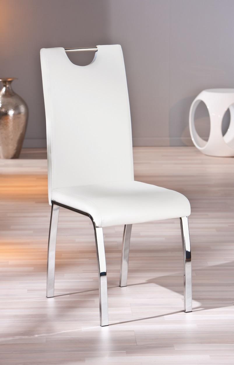 chaise design de salle manger coloris blanc lot de 2 ushuaya matelpro. Black Bedroom Furniture Sets. Home Design Ideas