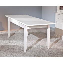 Table de salle à manger contemporaine en pin massif blanc Cassis