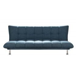 Banquette convertible design en tissu bleu Hember