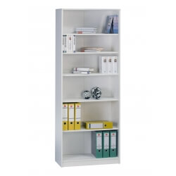 Etagère contemporaine 6 compartiments blanche Livia II