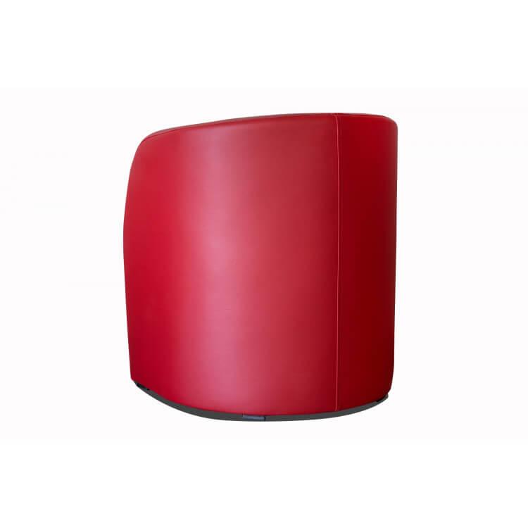 Fauteuil cabriolet en PU coloris rouge Adelie