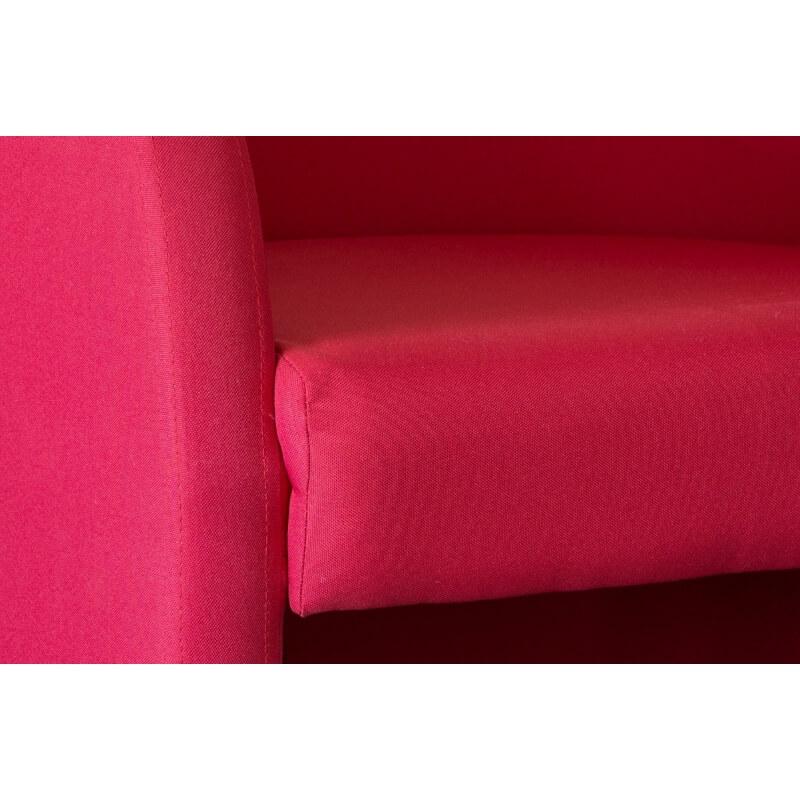 fauteuil cabriolet en tissu coloris rouge adelie matelpro. Black Bedroom Furniture Sets. Home Design Ideas