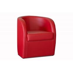 Fauteuil cabriolet avec coffre en PU rouge Adelie II