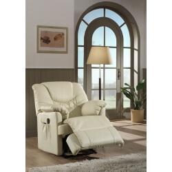 Fauteuil de relaxation massant cuir électrique avec repose-pieds intégré NO STRESS