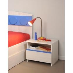 Chevet enfant contemporain 1 tiroir coloris frêne Fabrick