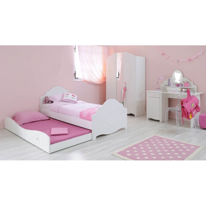 coiffeuse enfant contemporaine blanc meg ve malicia matelpro. Black Bedroom Furniture Sets. Home Design Ideas