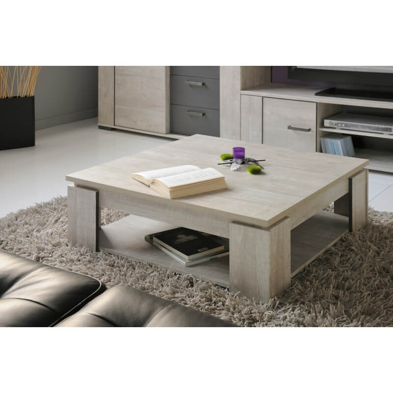 table basse carr e contemporaine gris loft cesario matelpro. Black Bedroom Furniture Sets. Home Design Ideas
