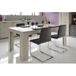Table de salle à manger rectangulaire gris loft/gris ombre Cesario