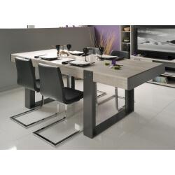 Table de salle à manger rectangulaire gris loft/gris ombre Cesario 2