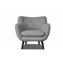 Fauteuil design en tissu gris clair Axelle